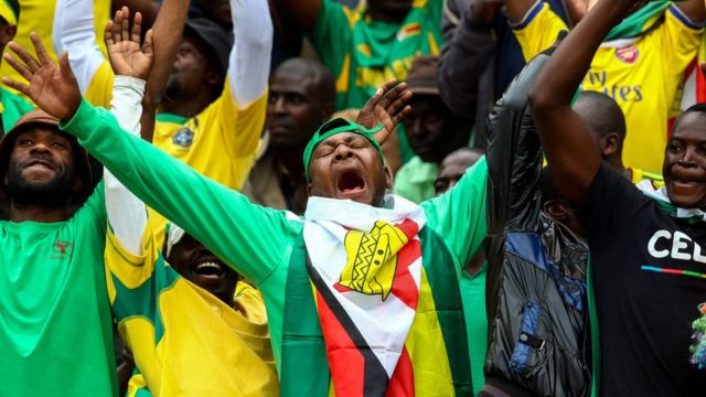 Zimbabwe yahuye na Malawi mu nkino z'igikombe ca CAN 05/06/2016 ku kibuga c' inkino ca Harare. / AFP PHOTO / JEKESAI NJIKIZANAJEKESAI NJIKIZANA/AFP/Getty Images