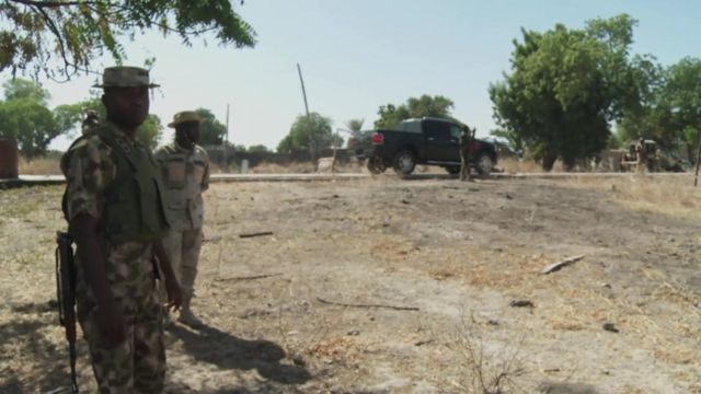 On the frontline with Nigerian army