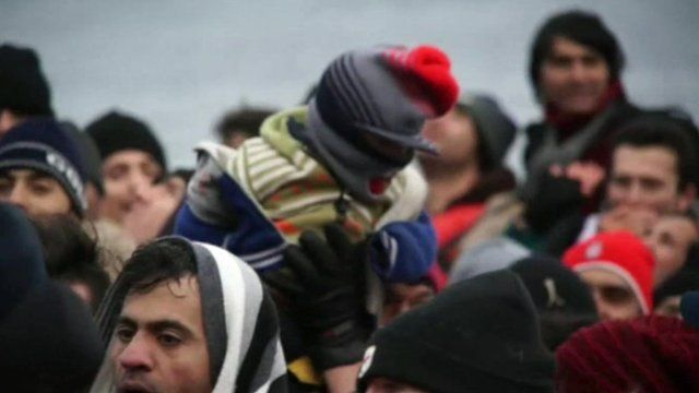 A group of refugees