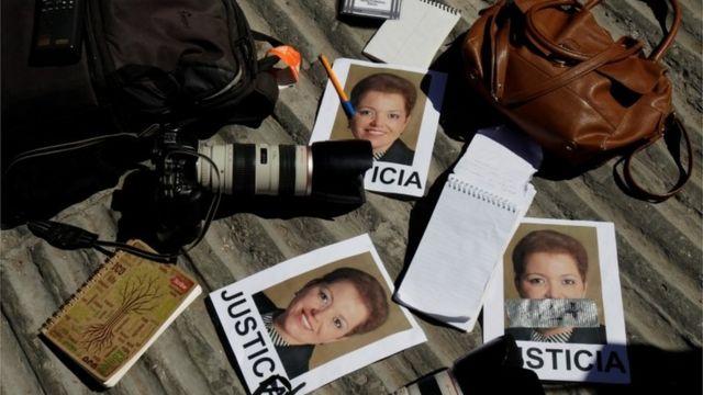 Miroslava Breach'in öldürülmesini protesto eylemi