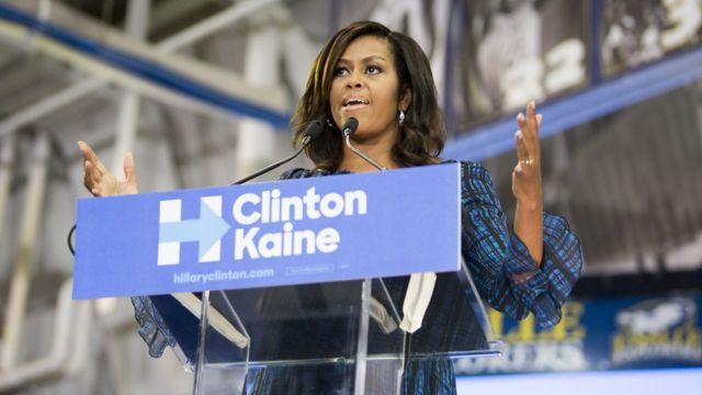 Trump ya ce Michelle Obama bata iya komai ba sai yakin neman zabe