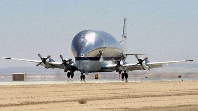 Avión Super Guppy usado por la NASA
