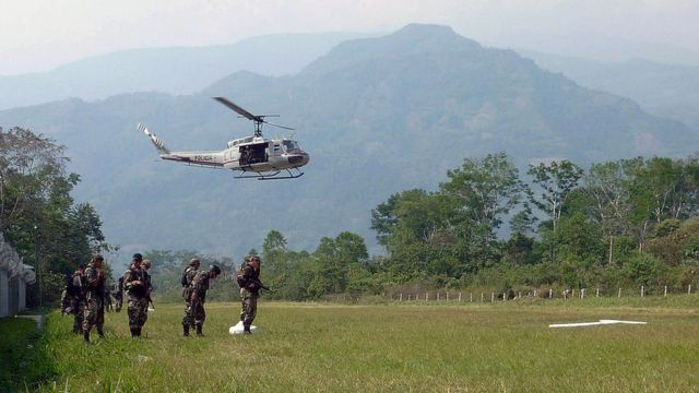 Helicopter at the VRAEM