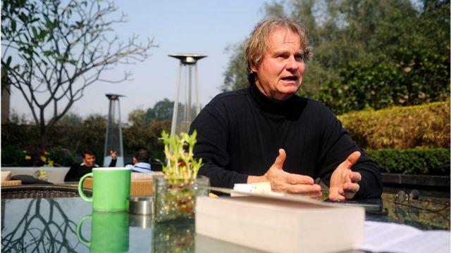 Wade Davis en 2013 en India