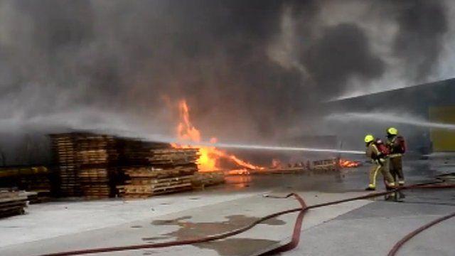 Fire at industrial estate in Pocklington, East Yorkshire
