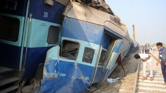 कानपुर में ट्रेन हादसा