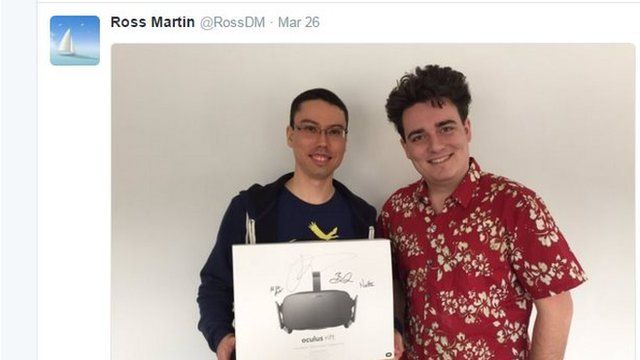 Ross Martin and Palmer Luckey