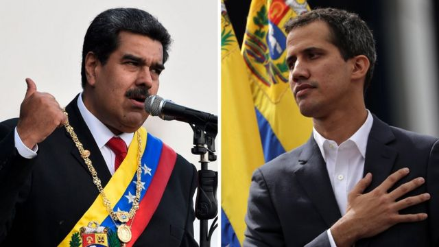 Maduro ve Guaido arasındaki iktidar mücadelesi uluslararası topllumu da ikiye bölmüş durumda.