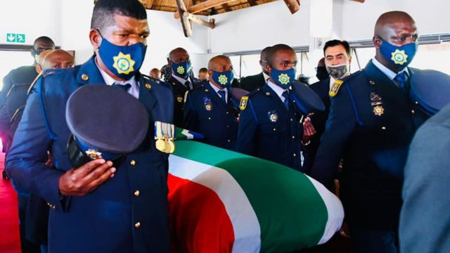 Professor Hlengiwe Mkhize's remains arrive at church