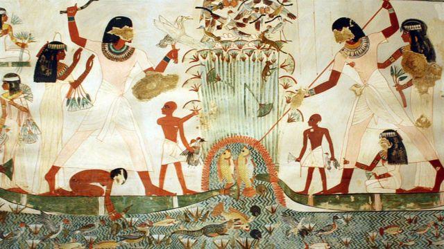 رسوم زراعية زنيلية من مصر القديمة