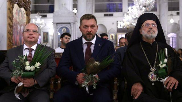 Сергей Гаврилов, Дмитрий Саблин и епископ Седнайский Лука в Дамаске
