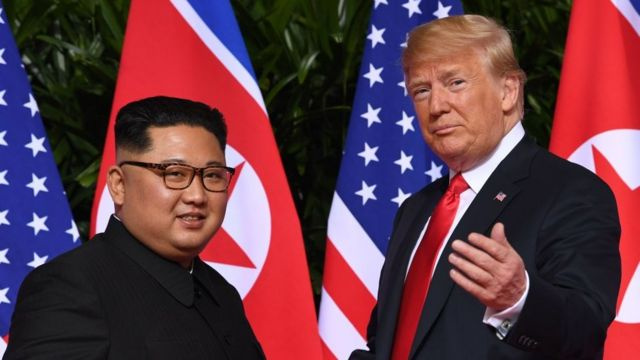 Mr Kim and Mr Trump in Singapore