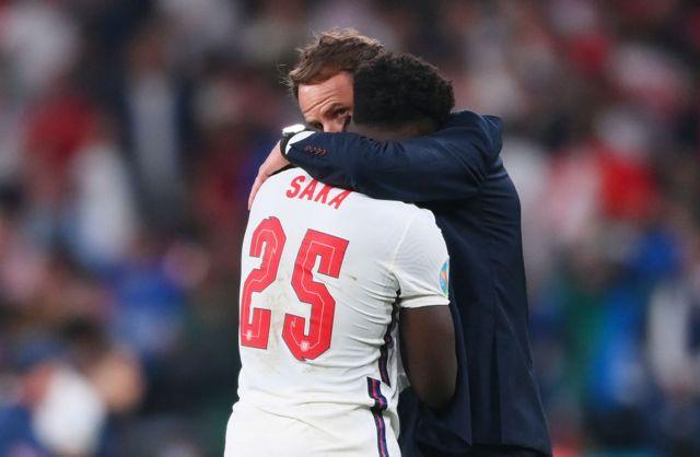 Gareth Southgate consoled Saka