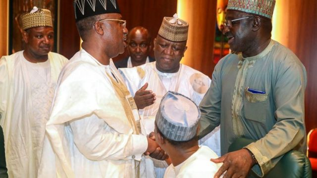 Awon gomina ninu ipade pelu Aare Buhari nilu Abuja