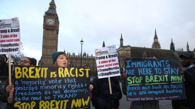 "протест против ""брексита"" в Лондоне"