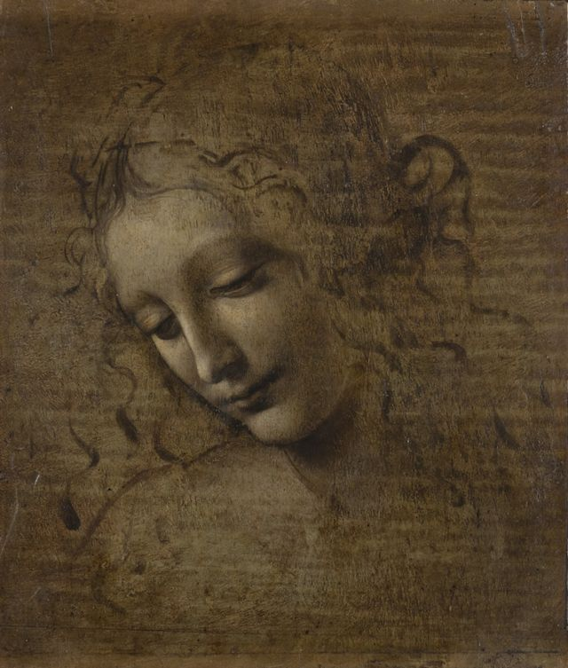 Cabeça de Mulher, de Da Vinci