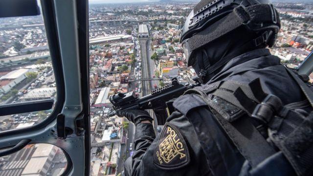 Policía en Ciudad de México, agosto de 2018.