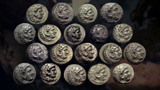 Todos los decadracmas de Alejandro Magno vendidos en casas de subastas desde la primavera de 2017.