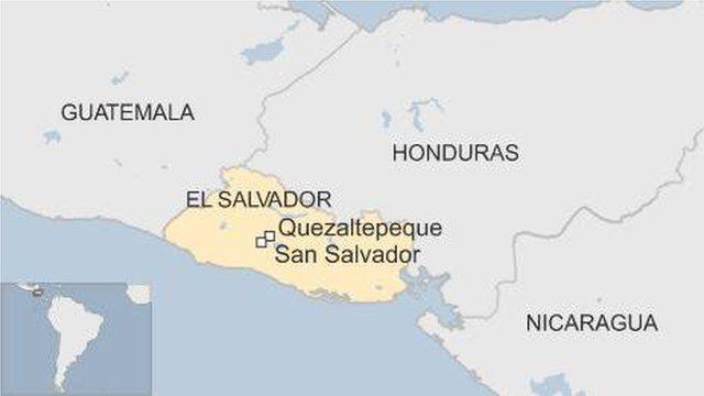 Map showing the prison in El Salvador
