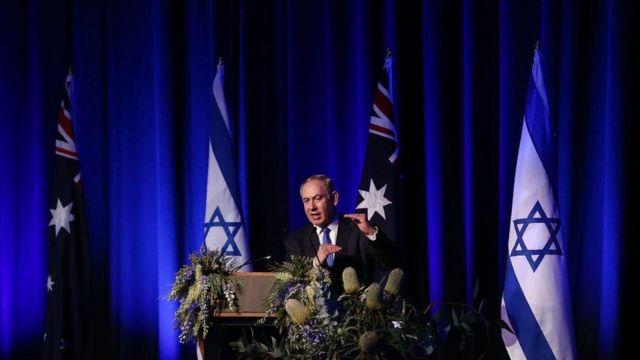 بنيامين نتنياهو في أستراليا