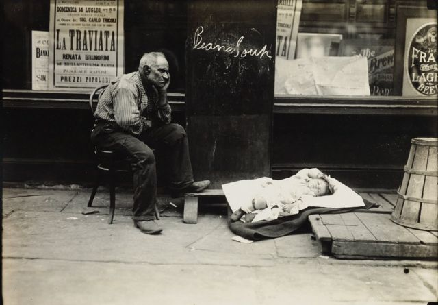 Жара в Ист-Сайде, Нью-Йорк, 1908 год