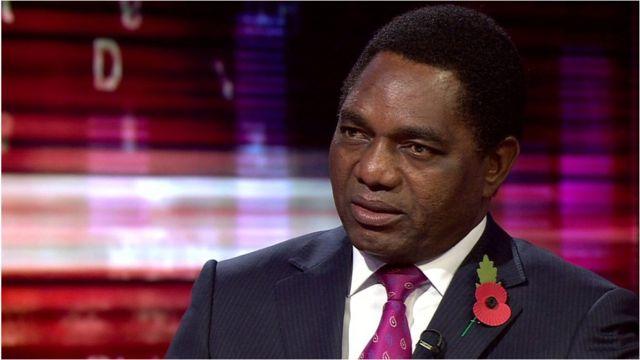 Hakende Hechilema, líder de la oposición en Zambia
