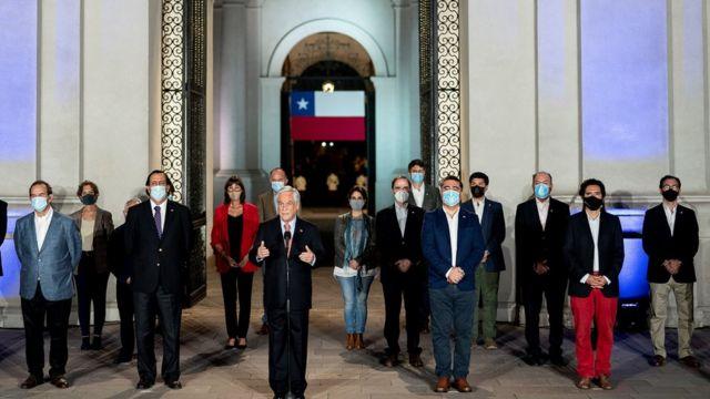 Sebastián Piñera habló desde el Palacio de la ;Moneda