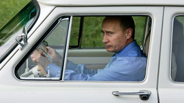 "Путин за рулем ""Волги"""
