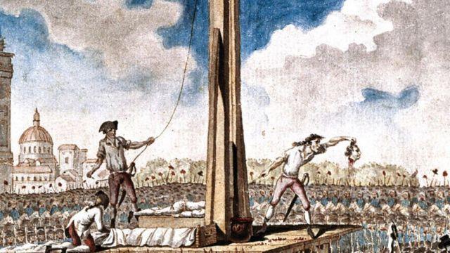 O rei Luís XVI morreu na guilhotina