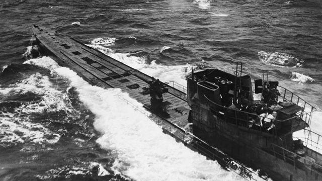 Un submarino alemán hundido en 1944