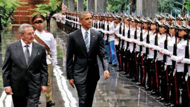 Prezida Obama na Castro