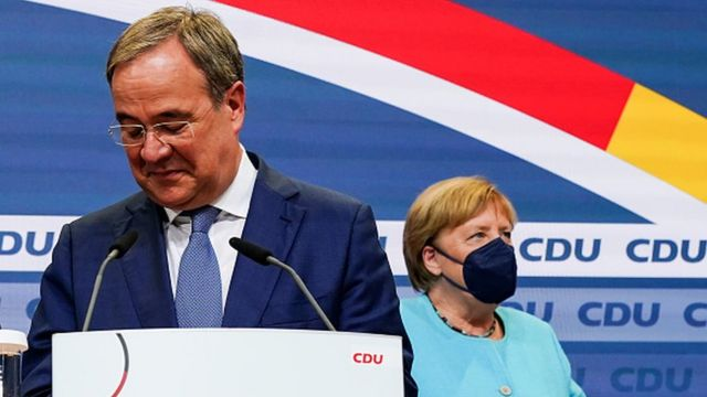 Ангела Меркель и Армин Лашет - бывший и нынешний лидеры ХДС