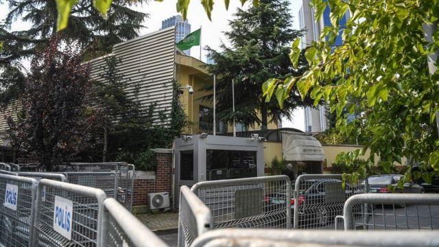 Gedung konsulat Saudi di Istanbul