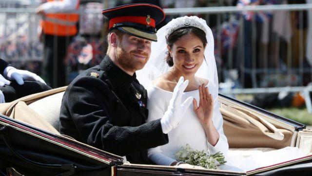 Harry y Meghan el día de su casamiento
