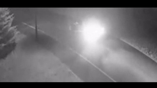 CCTV footage shows Sarah Williams driving to Sadie Hartley's home on the night of the murder