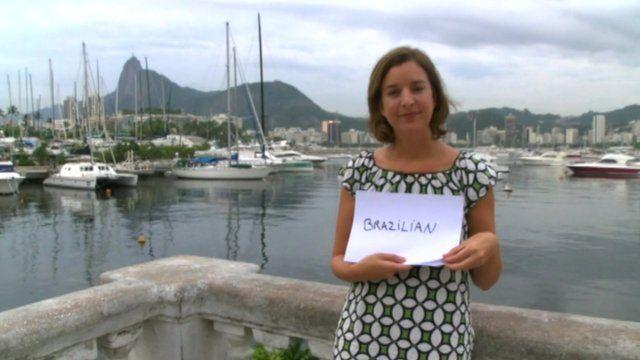 BBC journalist Julia Carneiro