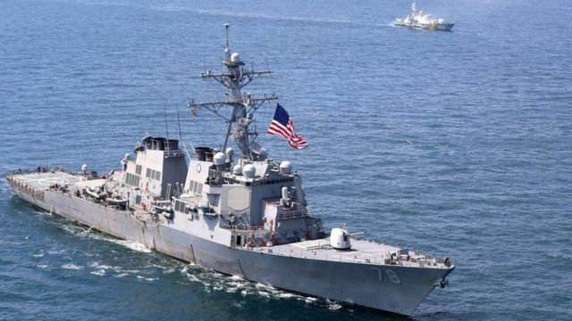"ABD savaş gemisi ""USS Porter"""