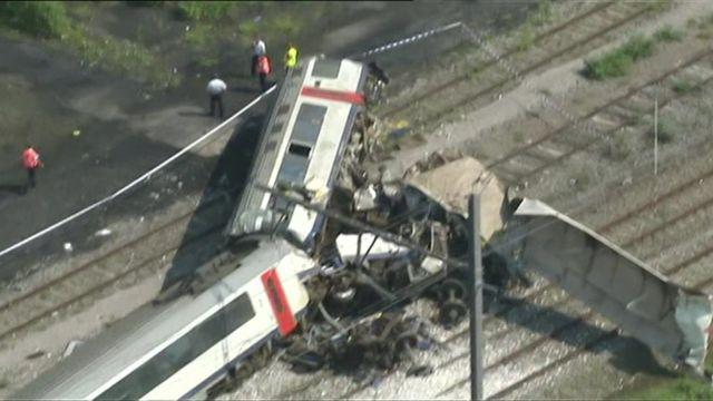 Train wreckage