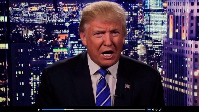 El video de Trump disculpándose.