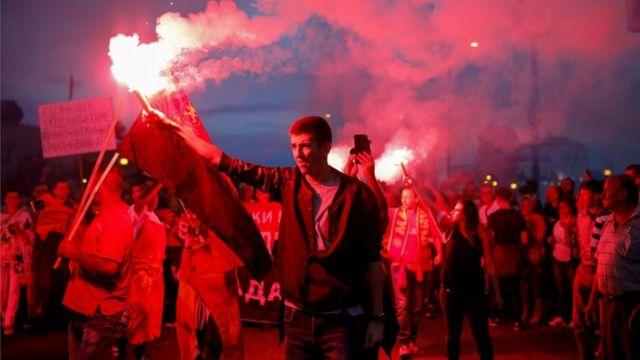 Pristalice makedonske opozicije protestvuju protiv promene imena
