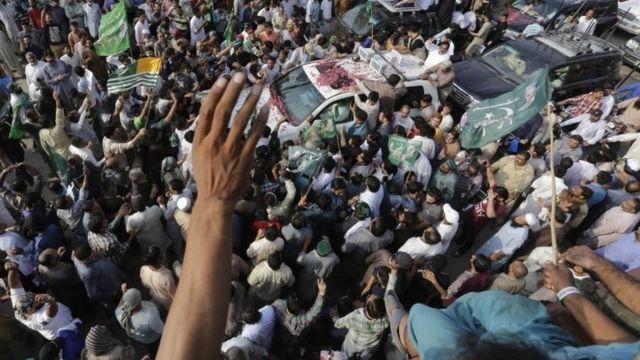 مسلم لیگ نون کا استقبالی جلوس