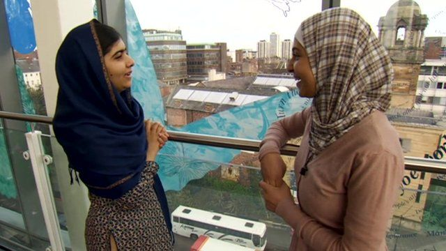 Malala Yousufzai on Tyneside