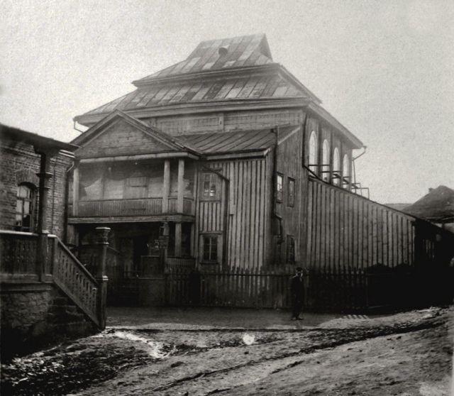 Синагога в Тальному, яку відвідувала родина Векслерів. Фото 1914 року