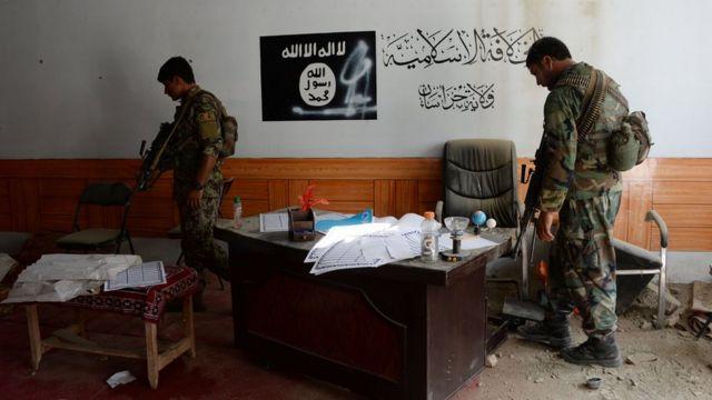 Fuerzas de seguridad afganas.