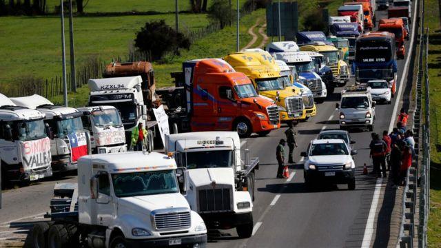 Protesta de camioneros
