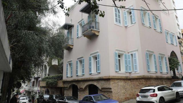 La maison présumée de Ghosn à Beyrouth.