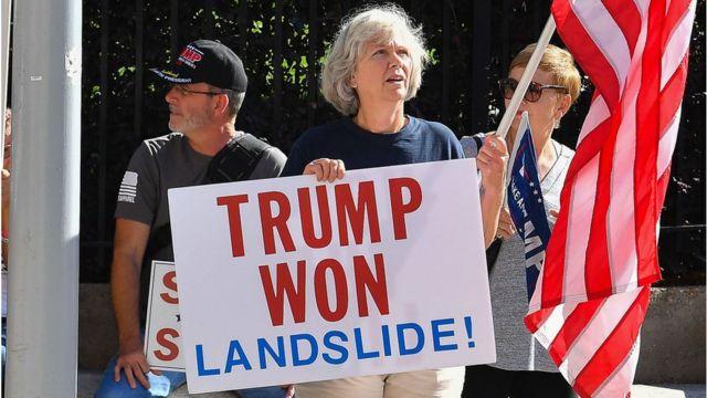 Pro-Trump protesters in Atlanta