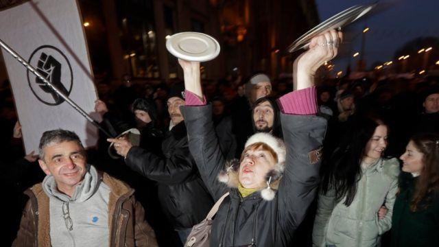 протесты против налога в Минске