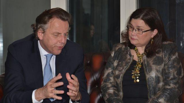 Hollanda Dışişleri Bakanı Bert Koenders ve Avrupa Parlamentosu Hollanda milletvekili Emine Bozkurt