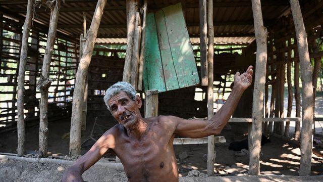 Hombre en Honduras